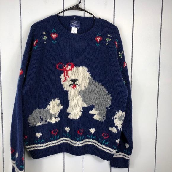 Vintage Woolrich Sheepdog Chunky Knit Wool Sz XL